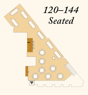 Seating 120 to 144
