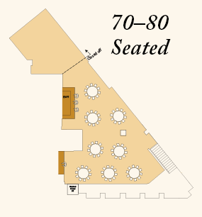 Seating 70 to 80